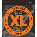 D'Addario ECG26 Chromes Flat Wound Medium_