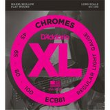 D'Addario ECB81 Chromes Bass Regular Light 45-100_