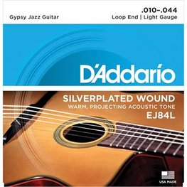 D'Addario EJ84L Gypsy Jazz Silver Wound Loop End Light 10-44