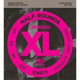 D'Addario ENR71 Half Rounds Bass Regular Light 45-100