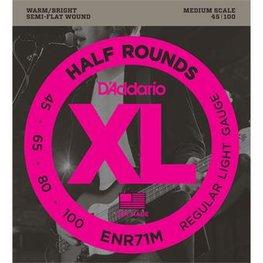 D'Addario ENR71M Half Rounds Bass Regular Light 45-100