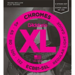 D'Addario ECB81-5SL Chromes Bass 5-String Regular Light 45-132