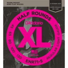 D'Addario ENR71-5 Half Rounds 5-String Bass Regular Light 45-13