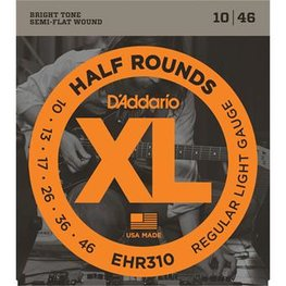 D'Addario EHR310 Half Rounds Regular Light