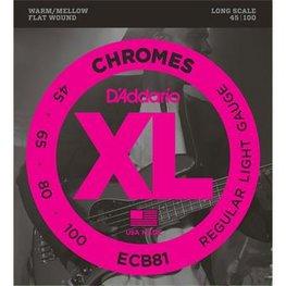 D'Addario ECB81 Chromes Bass Regular Light 45-100