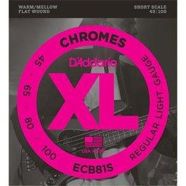 D'Addario ECB81S Chromes Bass Regular Light 45-100