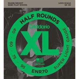 D'Addario ENR70 Half Rounds Bass Super Light 40-95
