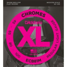 D'Addario ECB81M Chromes Bass Regular Light 45-100