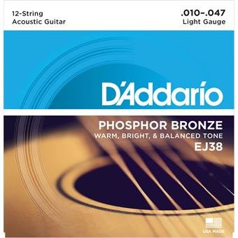 D'Addario EJ38 Hosphor Bronze Light 12-String 10-47