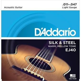 D'Addario EJ40 Silk And Steel Folk Silver Wound 11-47