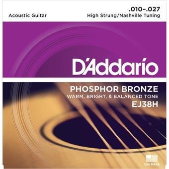 D'Addario EJ38H Phosphor Bronze High Strung Nashville 10-27