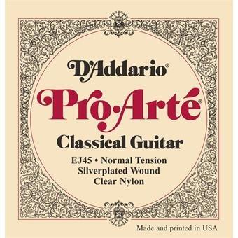 D'Addario EJ45 Normal Tension Pro Arte Classical Guitar Strings