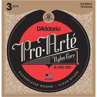 D'Addario EJ45-3D Normal Tension Pro Arte Classical Guitar 3-Pack