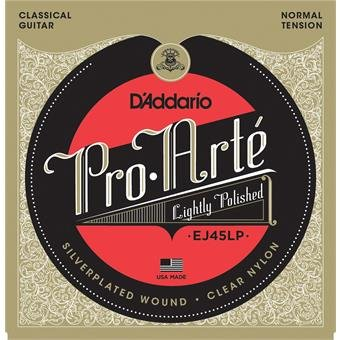 D'Addario EJ45LP Pro-Arte LP Composites Normal Tension Clear