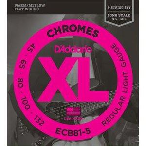 D'Addario ECB81-5 Chromes Bass 5-String Regular Light 45-132