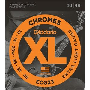 D'Addario ECG23 Chromes Flat Wound Extra Light