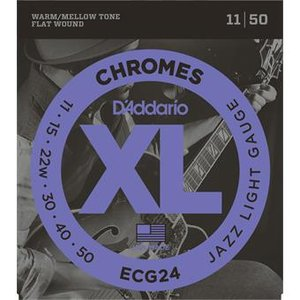 D'Addario ECG24 Chromes Flat Wound Jazz Light